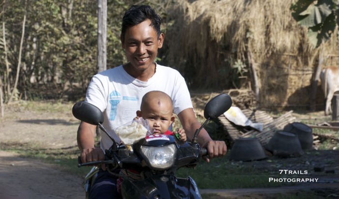 Going for a ride with Dad in  the backroads of the Sri Kestra UNESCO World Heritage site.