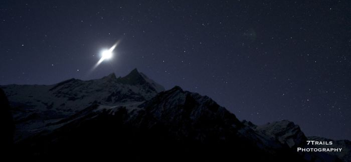 Moonrise at Machhapuchhre Base Camp