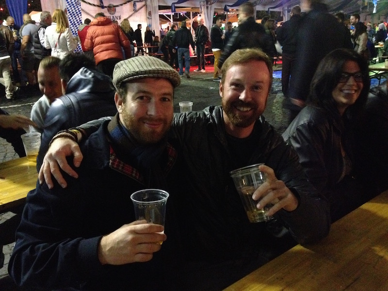 See. Rugged, yet classy. Enjoying Oktoberfest in the Paulaner tent.