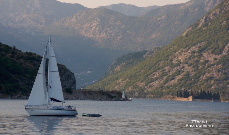 Sailing near Kotor