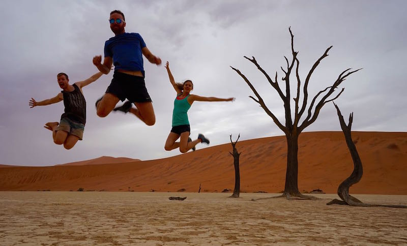 Having some fun at Deadvlei
